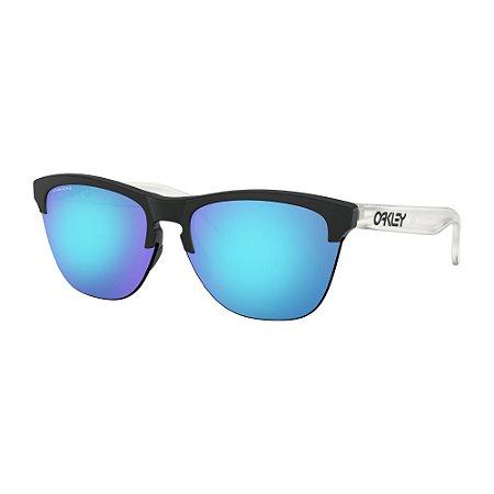 Óculos de Sol Oakley Frogskins Lite Matte Black Matte Clear W/ Prizm Sapphire Iridium