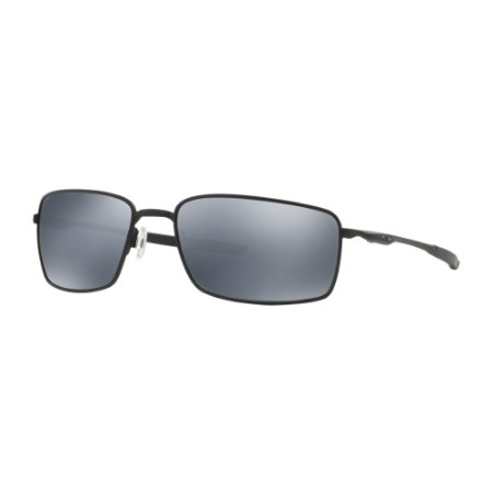 Óculos de Sol Oakley Square Wire Matte Black W/ Black Iridium Polarized