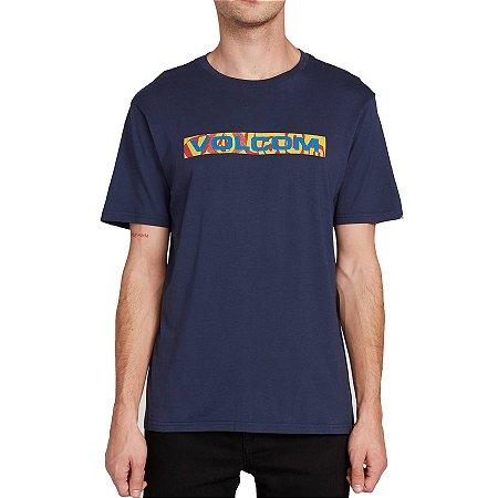 Camiseta Volcom Silk Euro Trash Azul