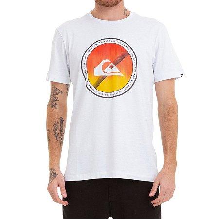 Camiseta Quiksilver Board Color Branco