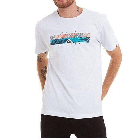 Camiseta Quiksilver Box Heat Branco