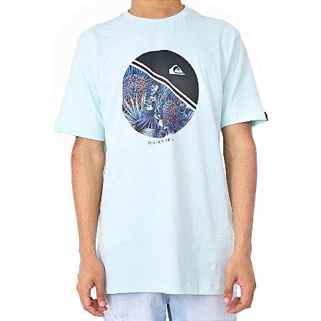 Camiseta Quiksilver Free Wheelinn Azul Claro