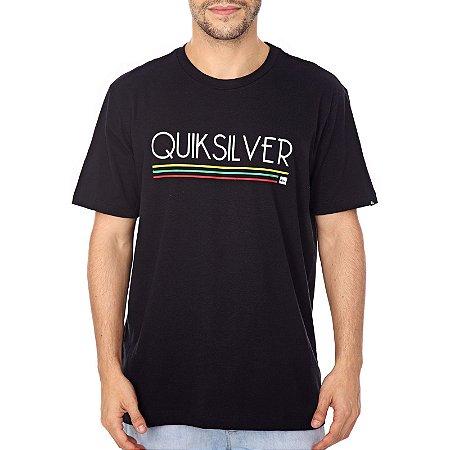 Camiseta Quiksilver Jamaica Log Preto
