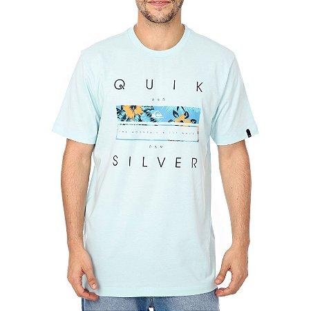 Camiseta Quiksilver Quik Blocked Azul Claro