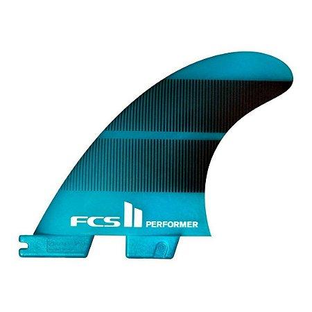 Quilha FCS II Performer Grande Neo Glass Azul