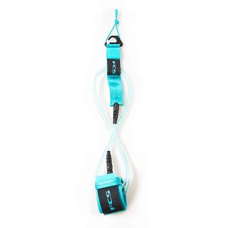 Leash FCS 6' - 7mm Essential Regular Transparente/Azul