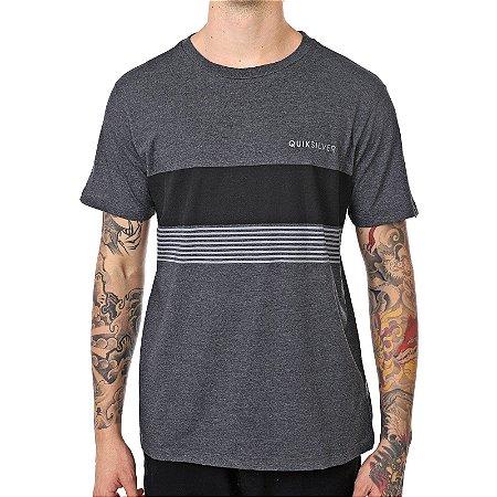 Camiseta Quiksilver Gradient Cinza Escuro