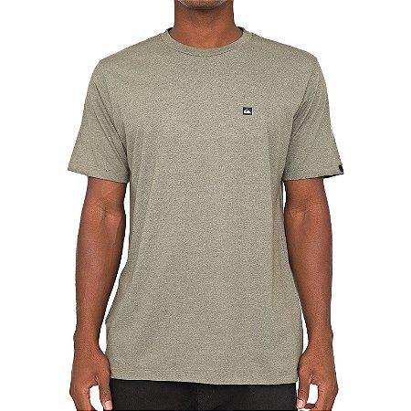 Camiseta Quiksilver Transfer Verde Escuro Mescla