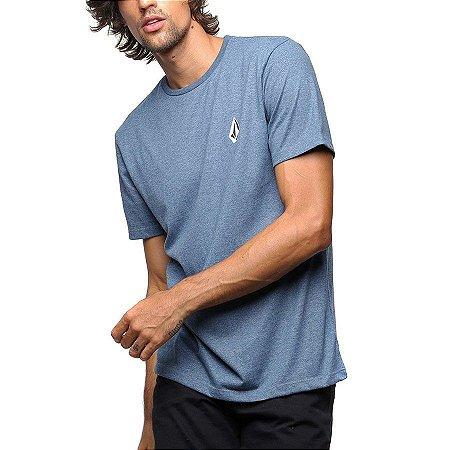Camiseta Volcom Deadly Stone Azul Mescla