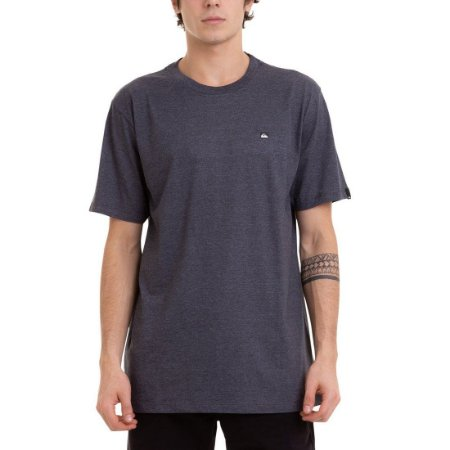 Camiseta Quiksilver Transfer Cinza Escuro Mescla