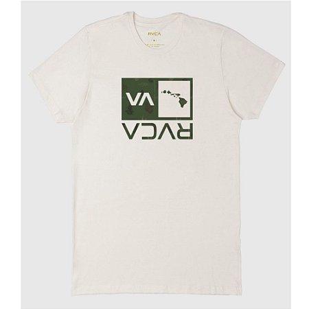 Camiseta RVCA Hawaii Off White