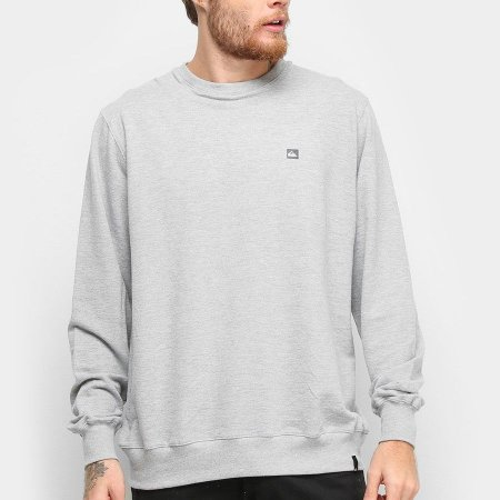 Moletom Quiksilver Careca Light Fleece Crew Cinza