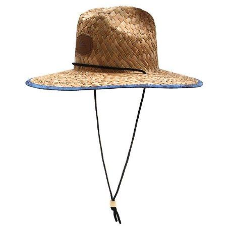 Chapéu de Palha Quiksilver Outsider Marrom/Azul