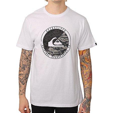Camiseta Quiksilver Camo Board Branco