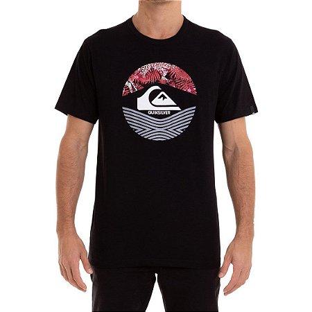Camiseta Quiksilver On Filter Preto