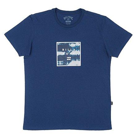 Camiseta Billabong Stacked Fill Azul Escuro