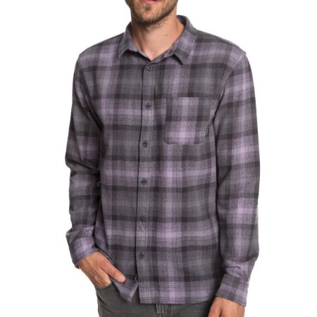 Camisa Quiksilver Manga Longa Fatherfly Shirt Cinza