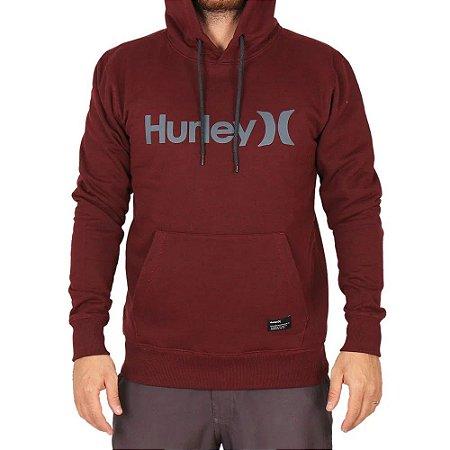 Moletom Hurley Fechado One&Only Masculino Vermelho Mescla
