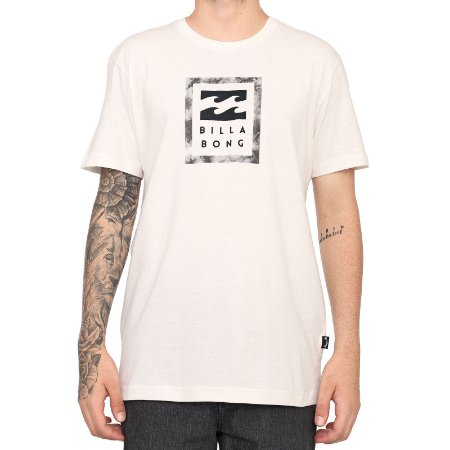Camiseta Billabong Stacked Stealth Off White