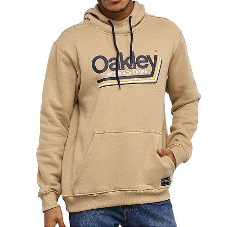 Moletom Oakley Tractor Label Hoodie Masculino Caqui