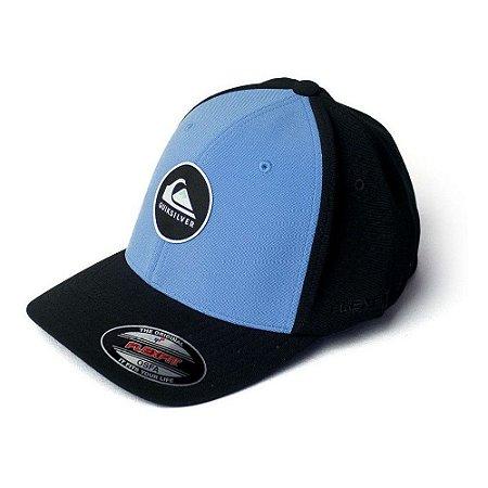 Boné Quiksilver Aba Curva Flex Round Color Azul/Preto