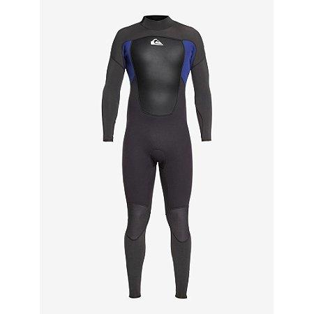 Wetsuit Long John Quiksilver 3/2mm Prologue Back Zip FLT Preto/Azul