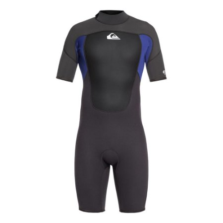 Wetsuit Short John Quiksilver 2/2mm Prologue Back Zip FLT Preto/Azul