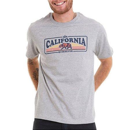 Camiseta Quiksilver CA Sunshine Masculina Cinza