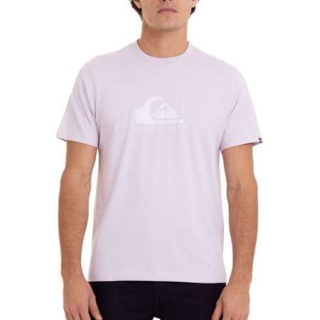 Camiseta Quiksilver Pastel Logo Masculina Lilás Claro