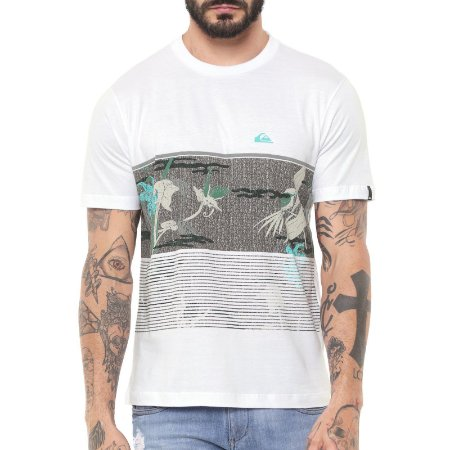 Camiseta Quiksilver Stacks For Days Masculina Branco