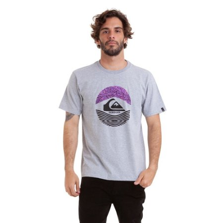 Camiseta Quiksilver Stomped On Masculina Cinza