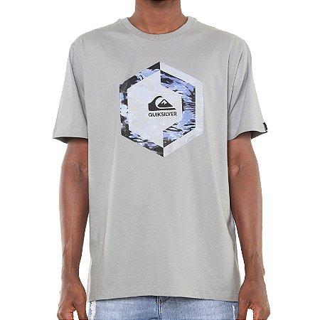 Camiseta Quiksilver Heat Stroke Masculina Cinza