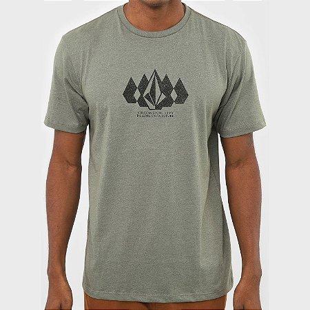 Camiseta Volcom Stone Army Verde Mescla