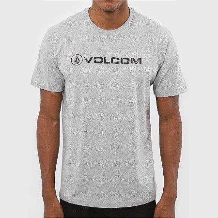 Camiseta Volcom New Style Masculina Cinza Mescla