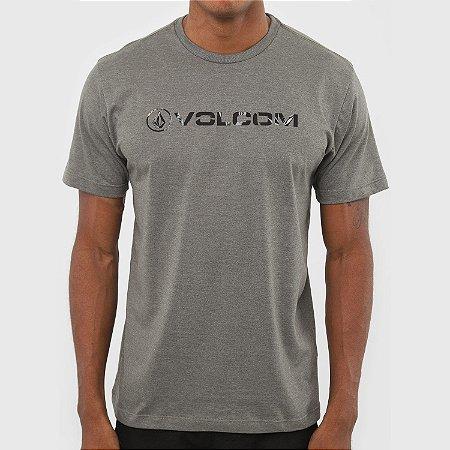 Camiseta Volcom New Style Masculina Verde Mescla