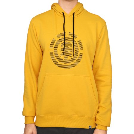 Moletom Element Fechado Bar Codes Masculino Amarelo