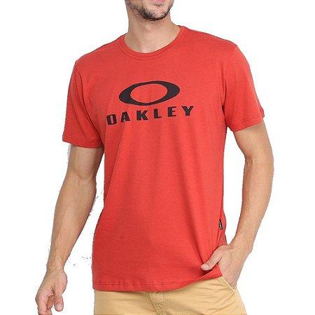 Camiseta Oakley O-Bark Masculina Laranja