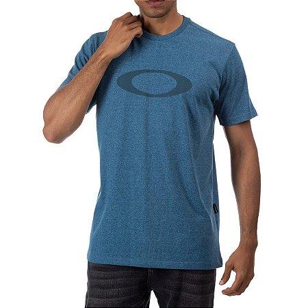 Camiseta Oakley O-Ellipse Masculina Azul Petróleo