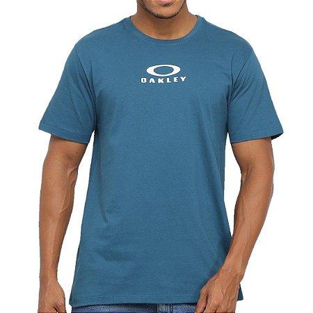 Camiseta Oakley Bark New Azul/Branco