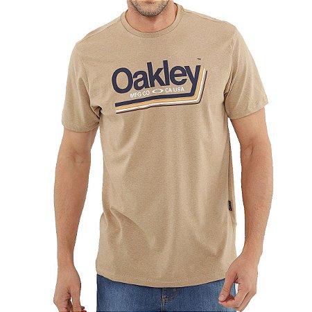 Camiseta Oakley Tractor Label Masculina Caqui