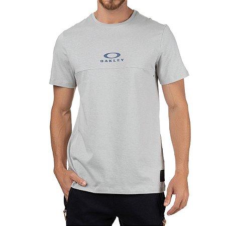 Camiseta Oakley Tractor Block SP Masculina Cinza Claro