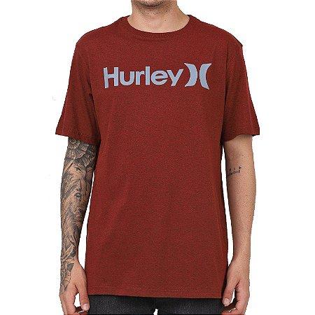 Camiseta Hurley Silk O&O Solid Vermelho Mescla