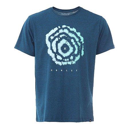 Camiseta Hurley Silk Oculus Azul Marinho Mescla