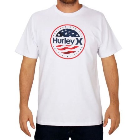 Camiseta Hurley Silk O&O América Masculina Branco