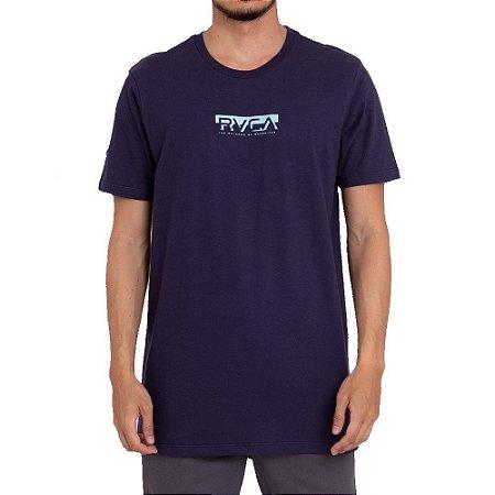Camiseta RVCA Blocked Masculina Azul Marinho