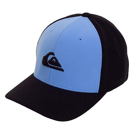 Boné Quiksilver Aba Curva Flex Embroyed Azul/Preto