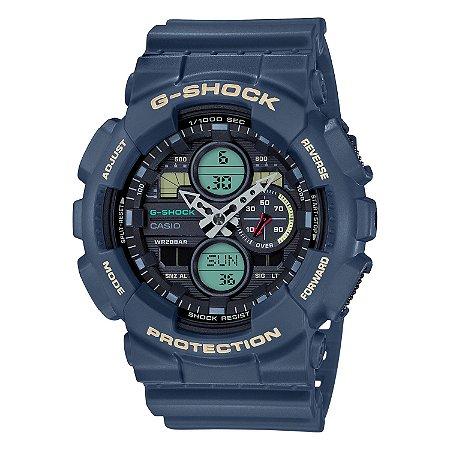 Relógio G-Shock GA-140-2ADR Azul