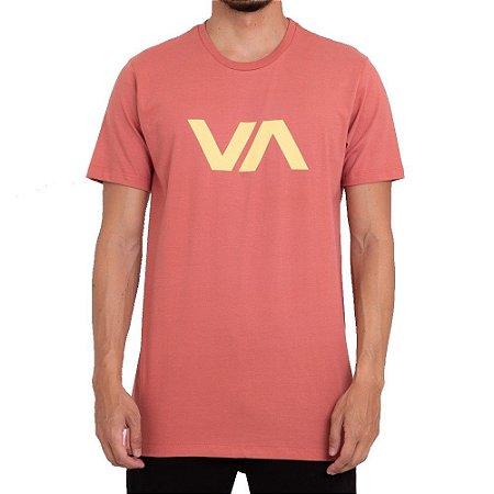 Camiseta RVCA VA Masculina Laranja Claro