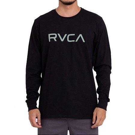 Camiseta RVCA Manga Longa Big RVCA Masculina Preto