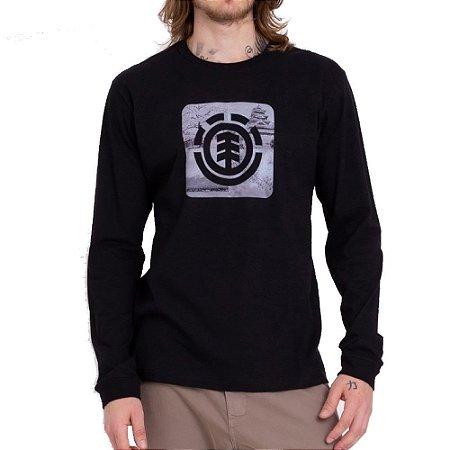Camiseta Element Manga Longa Four Season Masculina Preto